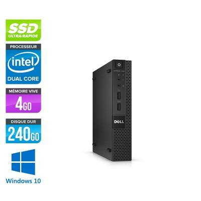 Dell 3020 Micro - G3250T - 4Go - 240Go SSD - W10