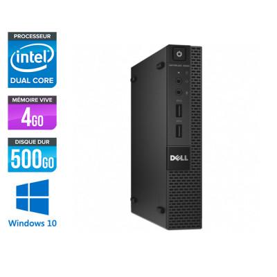 Dell 3020 Micro - G3250T - 4Go - 500Go HDD - W10