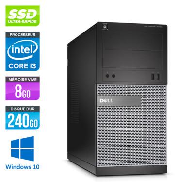 Dell Optiplex 3020 Tour - i3 4150 - 8Go - 240Go - Windows 10