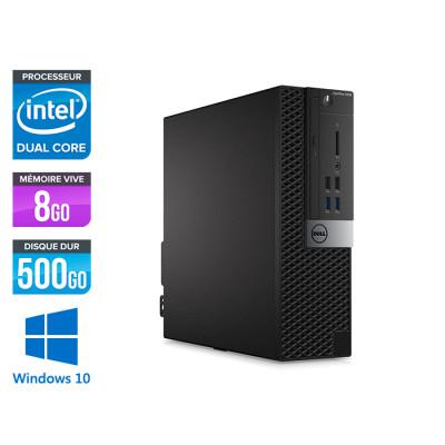Pc de bureau Dell Optiplex 5040 SFF reconditionné - Intel pentium - 8Go - 500Go HDD - Windows 10