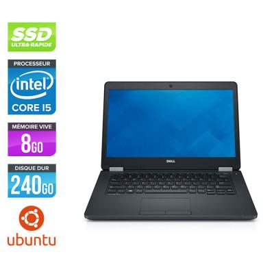 Dell Latitude 5480 - i5 6200U - 8Go DDR4 - 240 Go SSD - Linux / Ubuntu