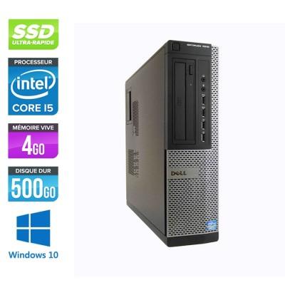 Pc bureau reconditionné - Dell Optiplex 7010 DT - Core i5 - 4Go - 500Go SSD - Windows 10