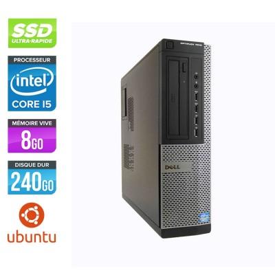 Pc bureau reconditionné - Dell Optiplex 7010 DT - Core i5 - 8Go - 240Go SSD - Ubuntu / Linux
