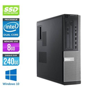 Pc bureau reconditionné - Dell Optiplex 7010 DT - Pentium G645 - 8Go - 240Go SSD - Windows 10