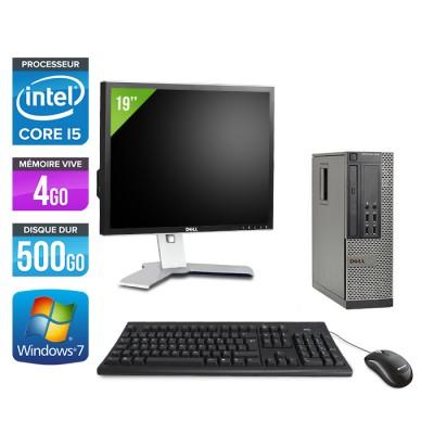 Dell Optiplex 7010 SFF + Ecran 19'' - i5 - 4Go - 500Go - Windows 7