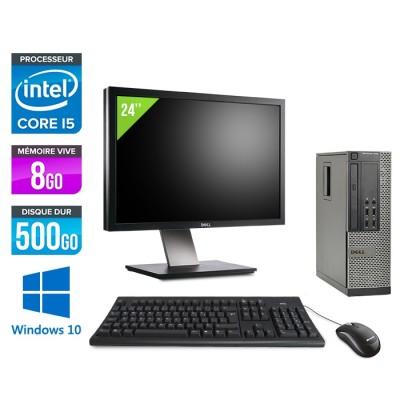 Dell Optiplex 7010 SFF + Ecran 24'' - Core i5 - 8Go - 500Go - Windows 10