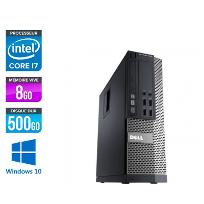 Dell Optiplex 7010 SFF - intel core i7 - 8Go - 500Go HDD - Windows 10