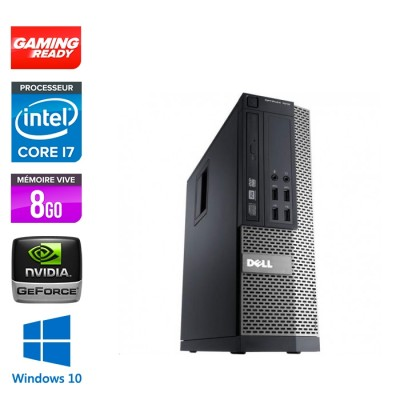Dell Optiplex 7010 SFF - intel core i7 - 8Go - 500Go HDD - GT1030 - Windows 10