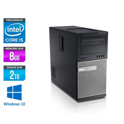 Dell Optiplex 7010 Tour reconditionné - i5 - 8Go - 2To - Windows 10