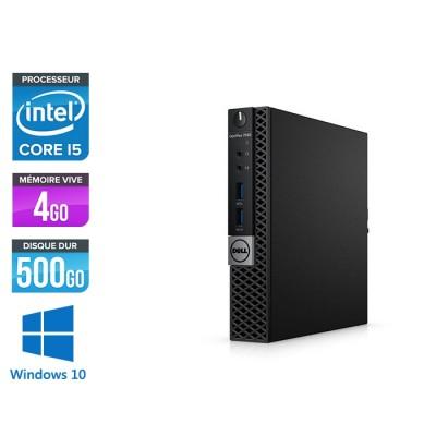 Unité centrale reconditionnée - Dell Optiplex 7040 Micro - i5 - 4Go - 500GO HDD - Win 10