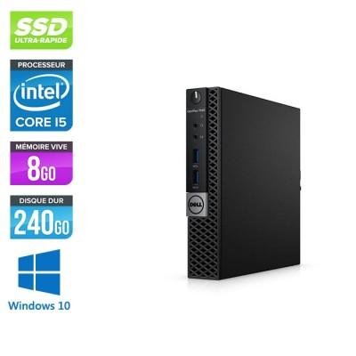 Unité centrale reconditionnée - Dell Optiplex 7040 Micro - i5 - 8Go - 240Go SSD - Win 10