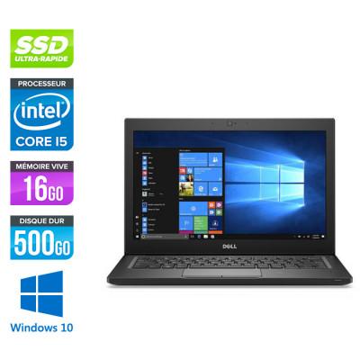 Pc portable - Ultraportable reconditionné - Dell Latitude 7280 - i5 - 16Go - 500Go SSD - Windows 10