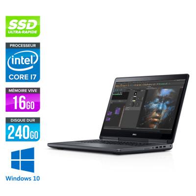 Dell Precision 7510 - i7 - 16Go DDR4 - 240Go SSD - NVIDIA Quadro M1000M - Windows 10 Professionnel