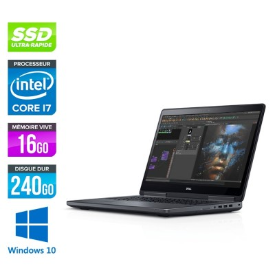 Dell Precision 7510 - i7 - 16Go DDR4 - 240Go SSD - NVIDIA Quadro M1000M - Windows 10
