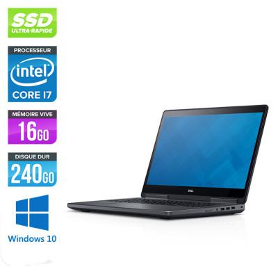 Dell Precision 7520 - i7 - 16Go DDR4 - 240Go SSD - NVIDIA Quadro M2200M - Windows 10