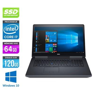 Dell Precision 7720 - i7 - 64Go - 120Go SSD - NVIDIA Quadro P3000 - Windows 10