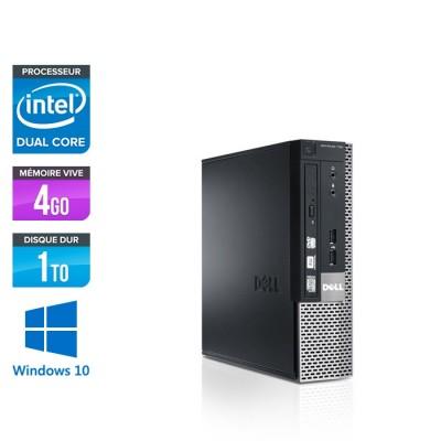 Dell Optiplex 790 USFF - G630 - 4Go - 1To - Windows 10