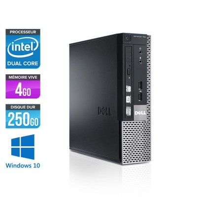 Dell Optiplex 790 USFF - G630 - 4Go - 250Go - Windows 10