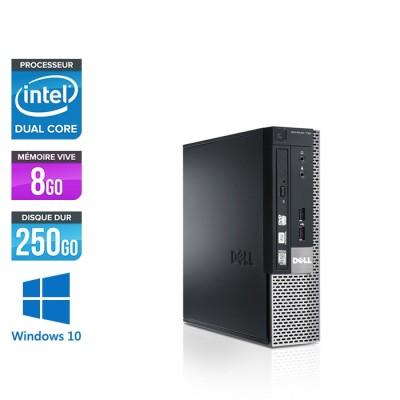 Dell Optiplex 790 USFF - G620 - 8Go - 250Go - Windows 10