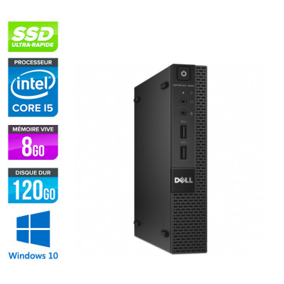 Dell 9020M Micro - Intel Core i5 - 8Go - 120Go SSD - W10