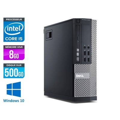 Dell Optiplex 9020 SFF - i5 - 8 Go - HDD 500 Go - DVDRW - Windows 10 Professionnel