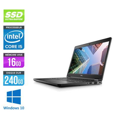 Pc portable - Dell Latitude 5490 reconditionné - i5 7300U - 16Go DDR4 - 240 Go SSD - Windows 10