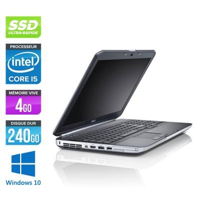 Dell Latitude E5520 - Core i5 - 4 Go - SSD 240 Go - Windows 10