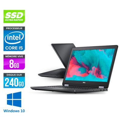 Dell latitude E5570 - i5 - 8 Go - 240 Go SSD - Windows 10