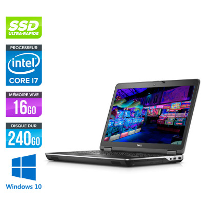 Pc portable - Dell Latitude E6540 reconditionné - 15.6 FHD - i7 4800MQ - 16Go - 240Go SSD - AMD Radeon HD 8790M - Windows 10 Pro