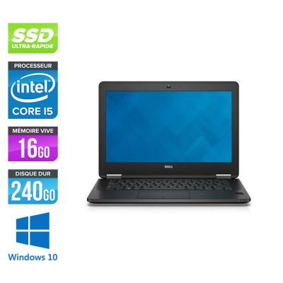 Dell Latitude E7270 - i5 - 16Go - 240Go SSD - Windows 10