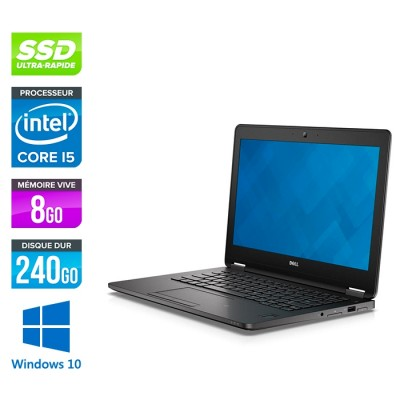 Dell Latitude E7270 - i5 - 8Go - 240Go SSD - Windows 10