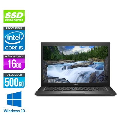 Pc portable reconditionné - Dell 7490 - i5 - 16 Go - 500Go SSD - Windows 10