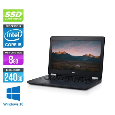 Dell Latitude E5270 - i5 - 8Go - 240Go SSD - Windows 10