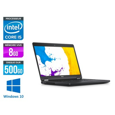 Ordinateur portable reconditionné - Dell Latitude E5450 - i5 - 8Go - 500Go HDD - Windows 10