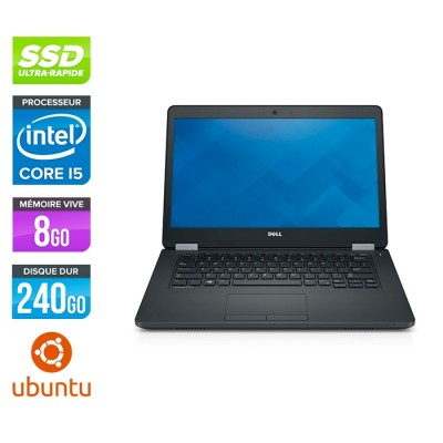 Dell Latitude E5470 - i5 6200U - 8Go DDR4 - 240 Go SSD - Linux