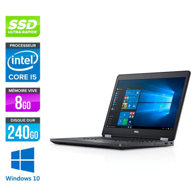 Dell Latitude 5480 - i5 6200U - 8Go DDR4 - 240 Go SSD - Windows 10