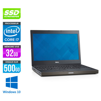 Dell Precision M4800 - i7 - 32Go - 500Go SSD - NVIDIA Quadro K2100M - Windows 10