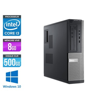 Pc de bureau reconditionné - Dell Optiplex 3010 DT - i3 - 8Go - 500Go HDD - Windows 10