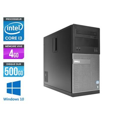 Pc de bureau reconditionné Dell 3010 Tour - i3 - 4Go - 500Go HDD - Windows 10 pro