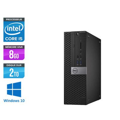 Pc de bureau Dell Optiplex 5040 SFF reconditionné - Intel core i5 - 4Go - 2To - Windows 10