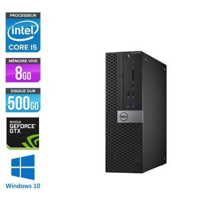 Pc de bureau Dell Optiplex 5040 SFF reconditionné - Intel core i5 - 8Go - 500Go HDD - NVIDIA GeForce GT 1030 - Windows 10