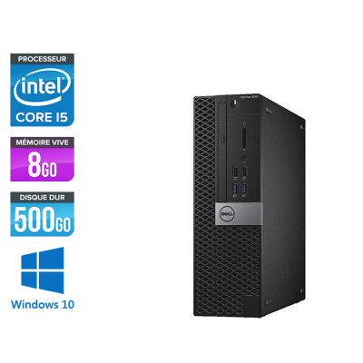 Pc de bureau Dell Optiplex 5040 SFF reconditionné - Intel core i5 - 8Go - 500Go HDD - Windows 10