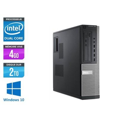 Pc bureau reconditionné - Dell Optiplex 7010 DT - Pentium G645 - 4Go - 2To HDD - Windows 10