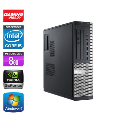 Dell 7010 DT - Gaming - i5 - 8 Go - 500Go HDD - GT 1030 - Windows 7 PRO