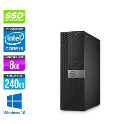 Dell Optiplex 7040 SFF - i5 - 8Go - 240Go SSD + 1To HDD - Win 10