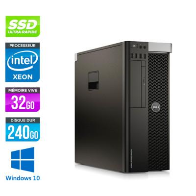 Dell 5810 - Xeon - 32Go - 240Go SSD - NVIDIA Quadro M4000 - Windows 10