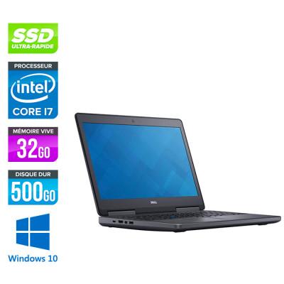 Dell Precision 7510 - i7 - 32Go DDR4 - 500Go SSD - NVIDIA Quadro M1000M - Windows 10