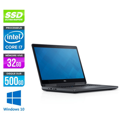 Dell Precision 7520 - i7 - 32Go DDR4 - 500Go SSD - NVIDIA Quadro M2200M - Windows 10