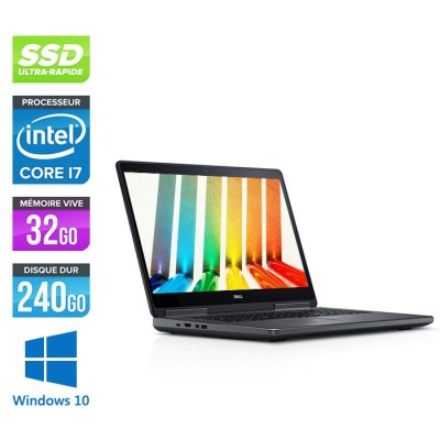 Pc portable - Dell Precision 7710 - i7 - 32Go - 240Go SSD