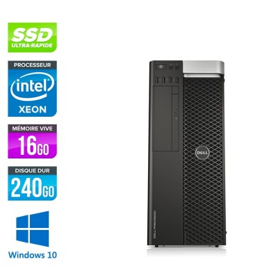 Dell T5600 - Xeon - 16Go - 240Go SSD + 2To - Quadro 2000 - W10